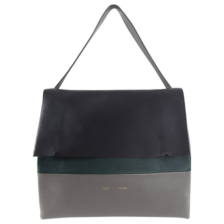 Celine Grey Green Black Tricolor All Soft Tote Bag