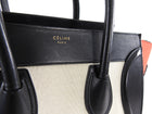 Celine Luggage Mini Tote Tricolor Canvas Black Red