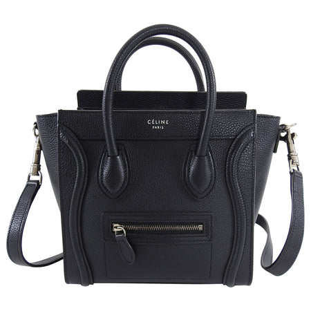 Celine Black Nano Mini Crossbody Phantom Luggage Tote Bag