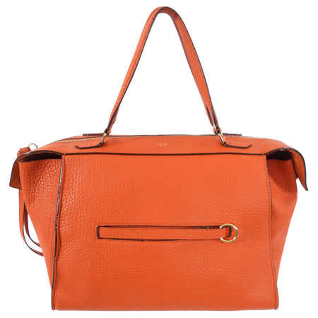 Celine Orange Grained Leather Small Ring Bag