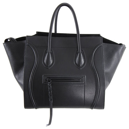 Celine Black Medium Phantom Tote Bag