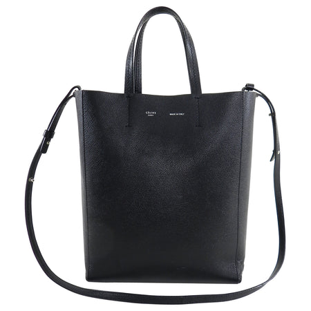 Celine Black Cabas Tote PM with Shoulder Strap