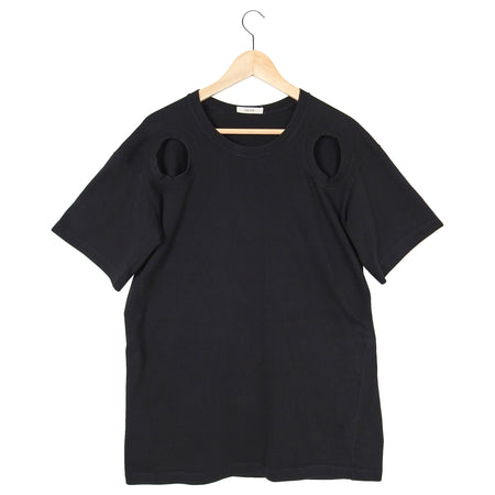 Celine Black Cotton Oversized T-Shirt with Cut-out Detail – FR42 / USA 10