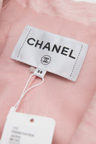 Chanel 17C Cuba Runway Pink Jacket with White Tulle Cuffs