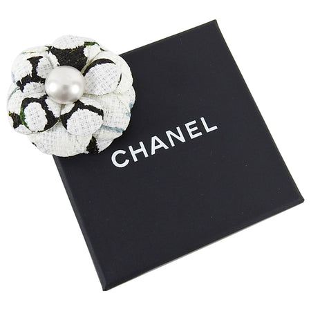 Chanel 2015 Spring Small Micro Camelia Flower Pin Brooch