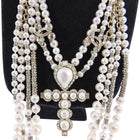 Chanel Pre-Fall 2019 Pearl and Strass Multi-Strand Statement Necklace
