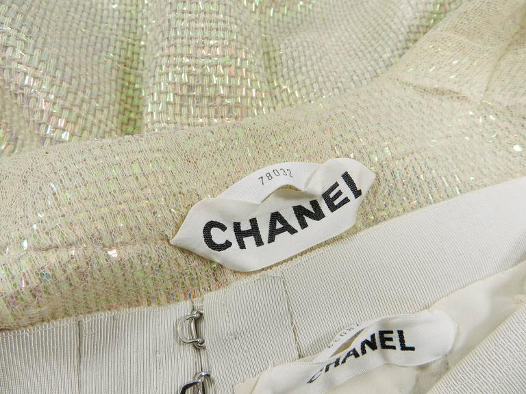 Chanel Spring 1999 Haute Couture Runway Shimmer Suit