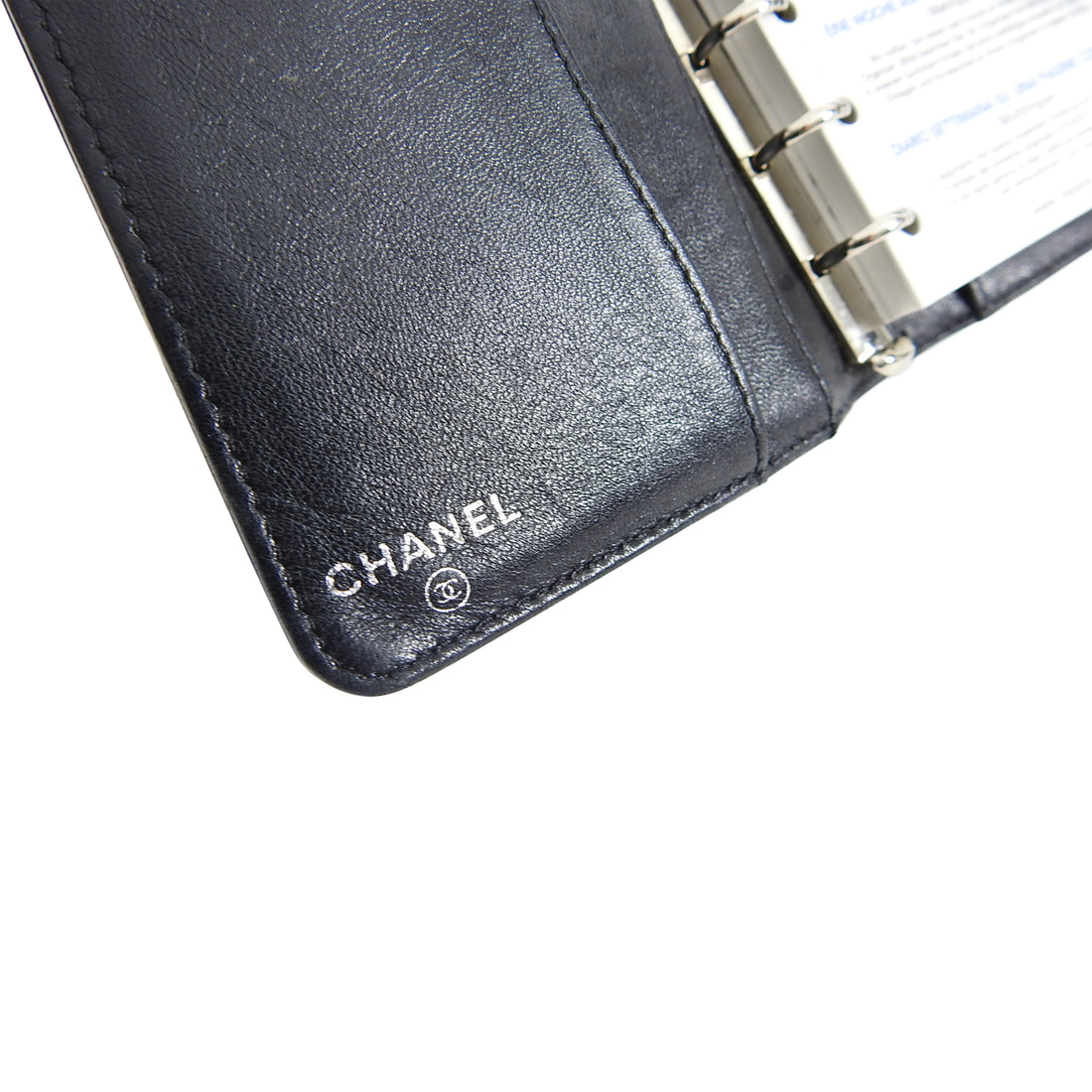 Chanel Vintage 2003 Black Leather Small Agenda Organizer
