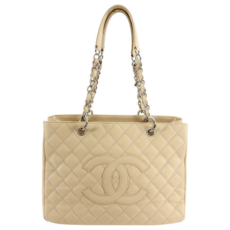 Chanel Beige Caviar GST Grand Shopping Tote Bag