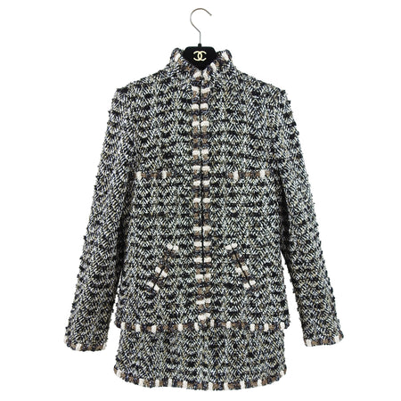 Chanel Pre-Fall 2012 Bombay Runway Gold Tweed Skirt Suit - 38 / 6