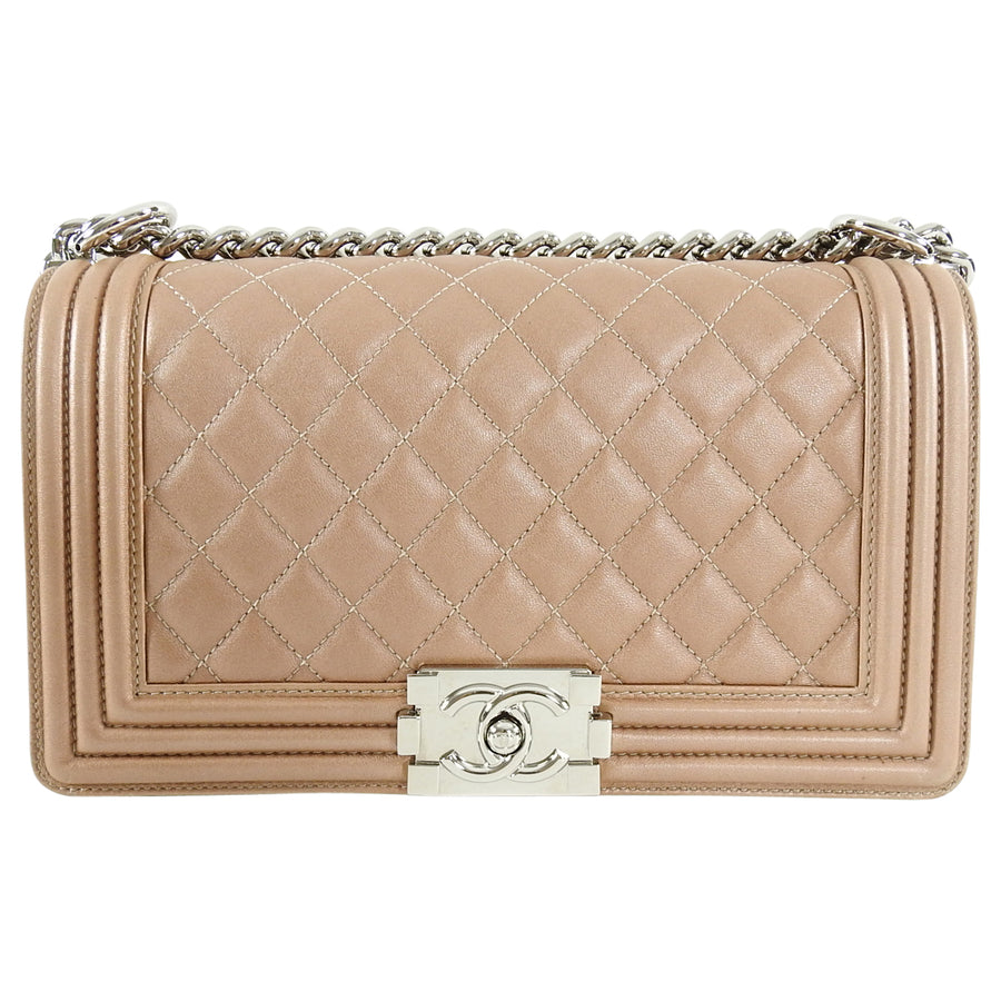 Chanel Nude Blush Pearl Le Boy Bag Old Medium