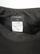 Chanel 07A Brown Wool Layered Short Skirt -  XS