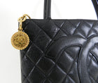 Chanel Caviar Leather Quilted CC Logo Tote Bag