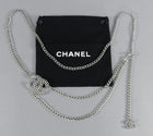 Chanel vintage 03p Silver Perforated CC Chain Belt