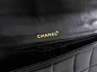 Chanel Black Chocolate Bar Gold Hardware East West Flap Bag