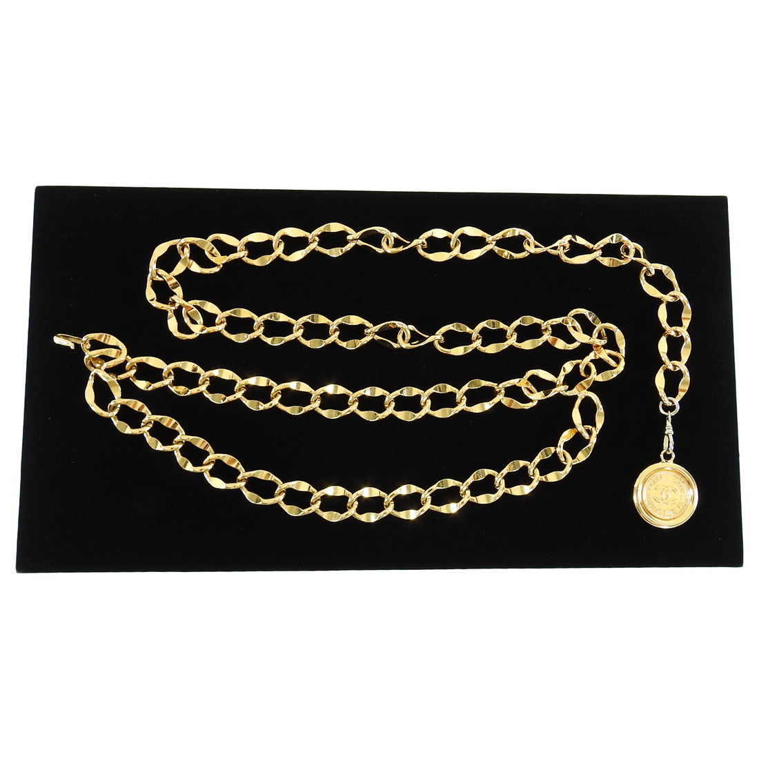 Chanel Vintage Gold Chain Medallion Coin Belt