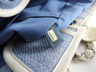 Chanel Deauville Blue Large Shopping Tote Bag
