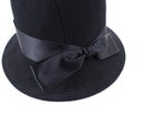 Chanel Vintage 1980's Black Felt Hat with Bow - 57 / 22