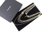Chanel 14A Light Gold Multi Chain CC Pearl Necklace
