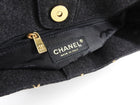 Chanel Charcoal Grey Wool Wild Stitch Small Tote Bag
