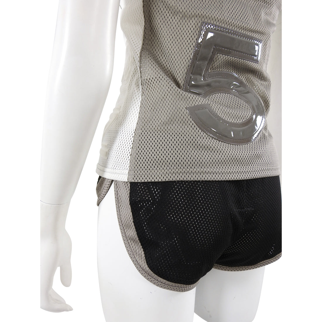 Chanel Sport 2004 CC Mesh Halter Top and Gym Shorts - 36