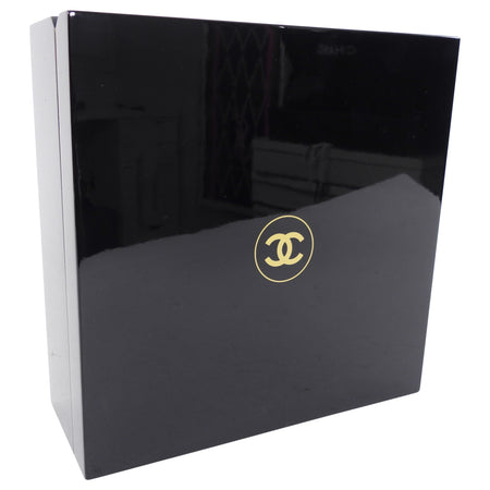 Chanel Black Lacquer CC Logo Jewelry Box