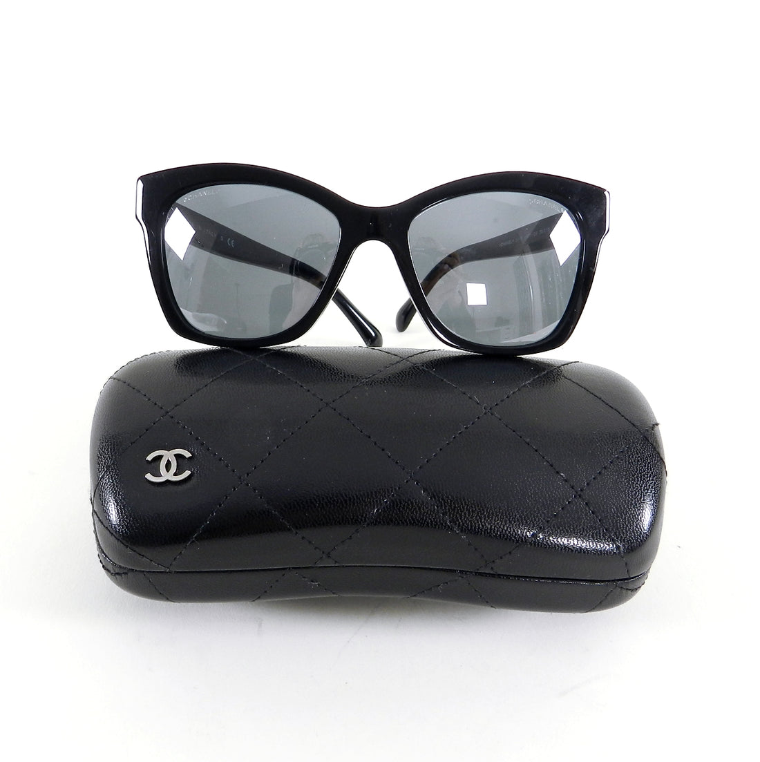 Chanel Le Boy 5313 Black Sunglasses with Case