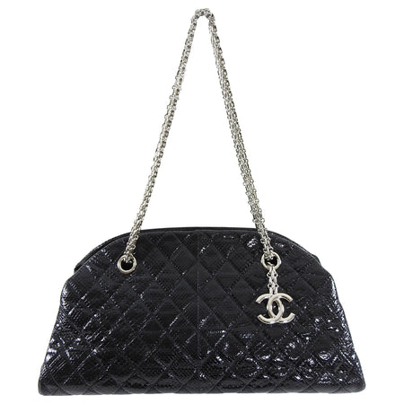Chanel Black Lizard Medium Just Mademoiselle Bag