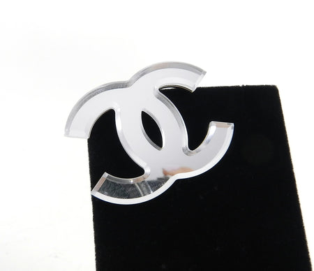 Chanel 03A Vintage CC Logo Mirror Brooch Pin