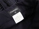 Chanel 08A Pinstripe Fringe Applique Pencil Skirt - 38 / 6