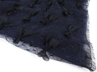 Chanel Midnight Blue Sheer Lace T-Shirt Top with Bows - FR38 / 6