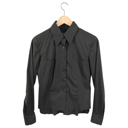 Chanel 03C Vintage Dark Olive Brown Button Up Shirt - FR38 / 6