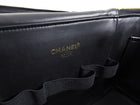 Chanel Vintage 1996 Large Black Patent 2 Way Vanity Travel Bag