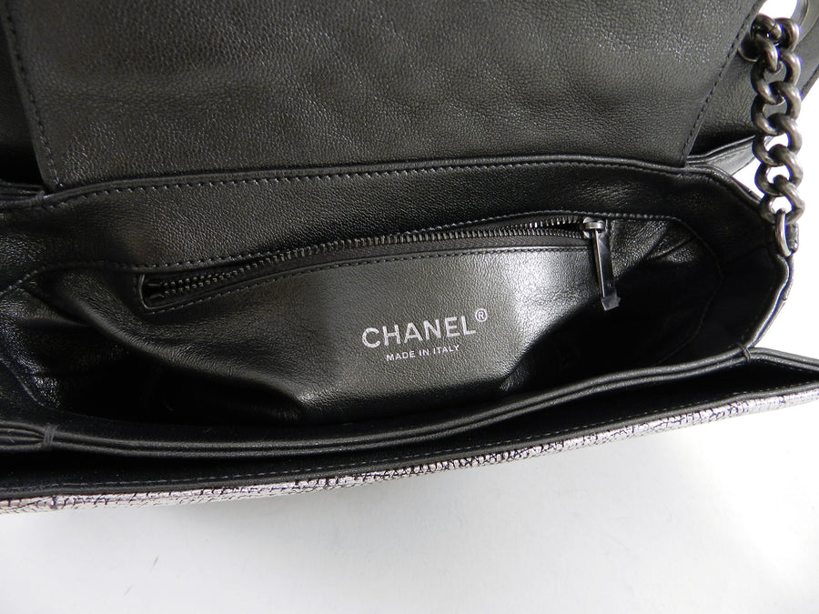 Chanel Fall 2012 Runway Silver Lizard Perfect Edge Medium Flap Bag