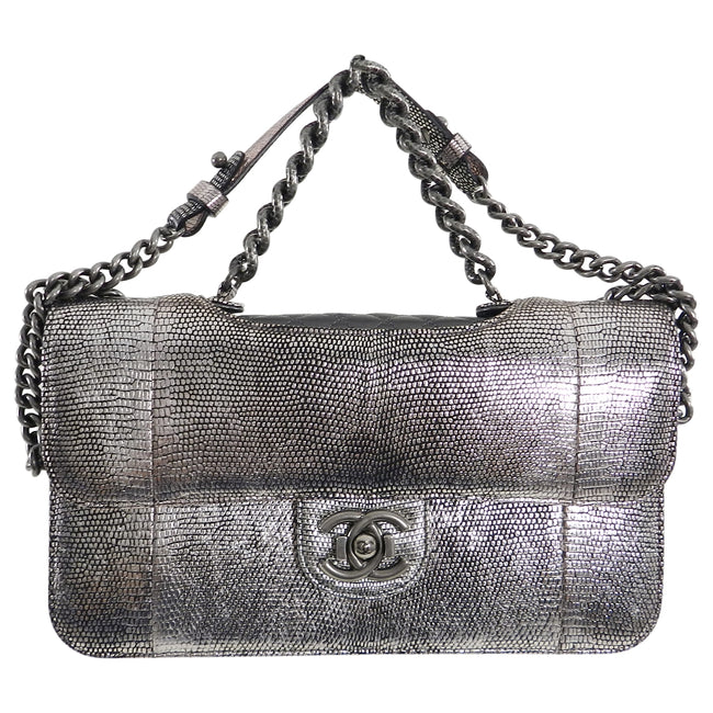 9c41132075e Chanel Fall 2012 Runway Silver Lizard Perfect Edge Medium Flap Bag