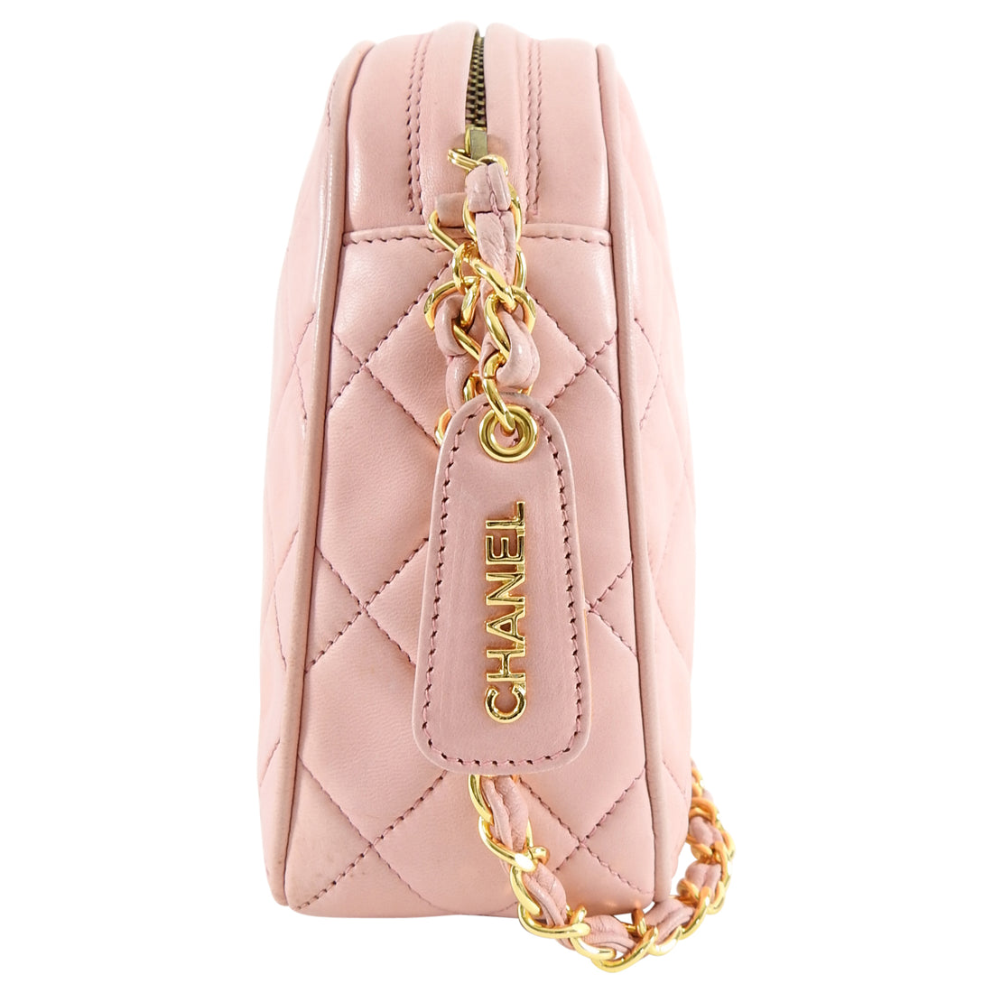 Chanel Vintage 1994 Light Pink Lambskin CC Camera Bag