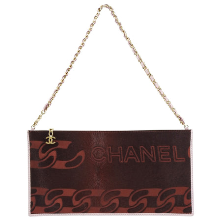 Chanel Fall 2001 Runway Burgundy Pony Hair Pochette Bag