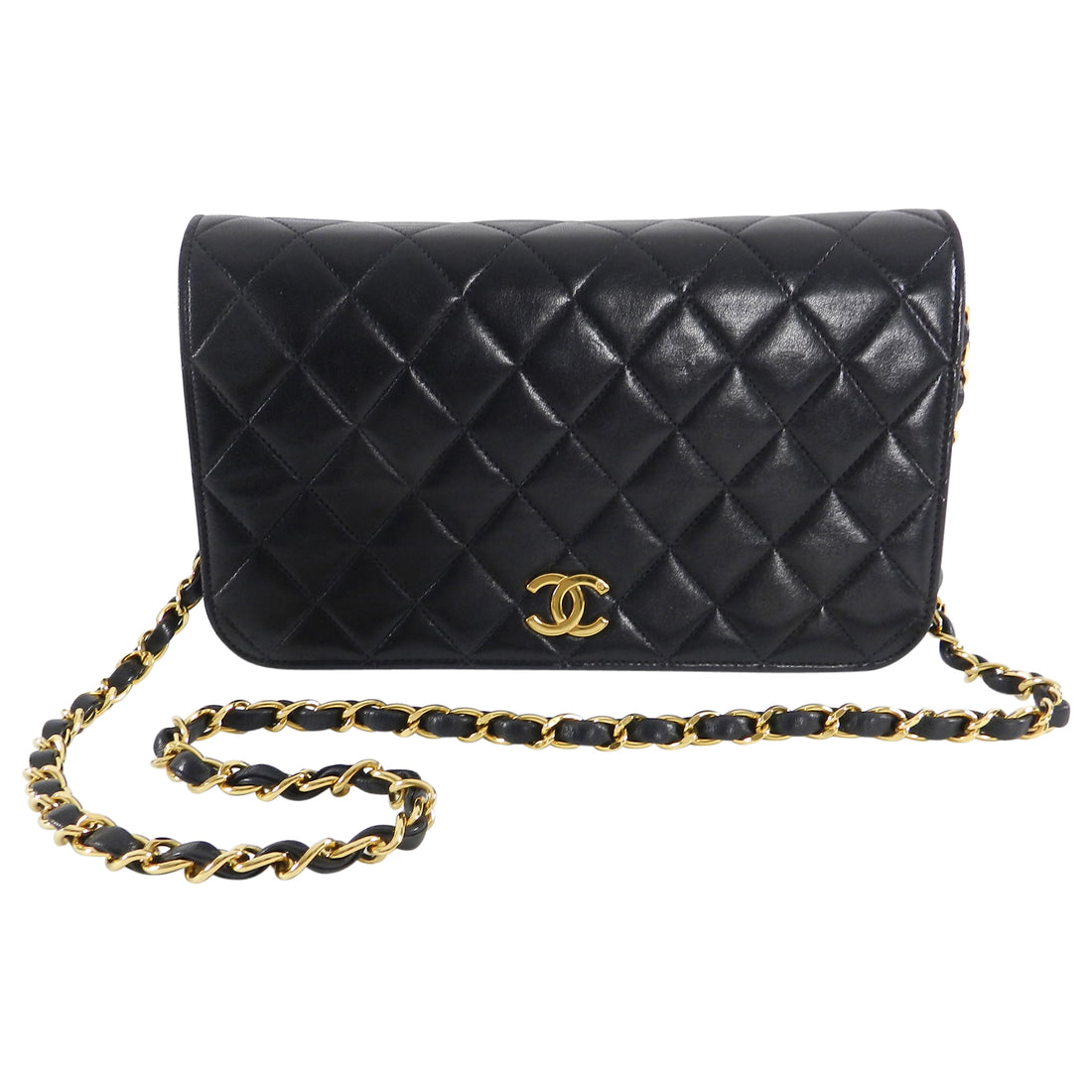 Chanel Vintage 1996 Black Quilted Lambskin Flap Bag