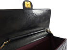Chanel Vintage 1991 Black Lambskin Leather Quilt Flap Bag