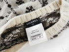 Chanel Fall 2015 Ivory and Brown Pattern Cashmere Sweater - 36
