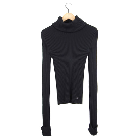 Chanel Vintage Early 2000's Black Turtleneck Sweater - M