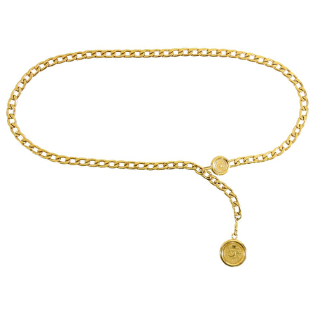 Chanel Vintage 1994 Spring Gold CC Coin Chain Belt