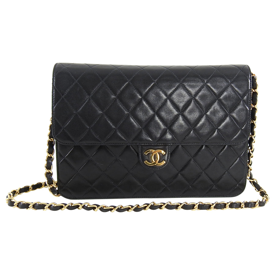890b52ffa4f5 Chanel Vintage 1996 Black Quilt Flap Bag with Chain Strap – I MISS ...