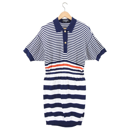 Chanel Vintage 1980's Cruise Striped Nautical Knit Dress - M (6/8)