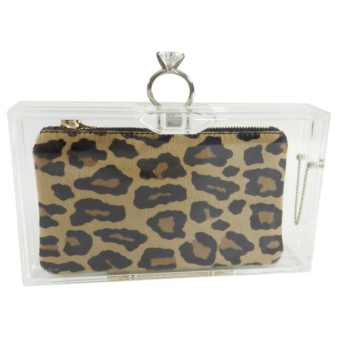 Charlotte Olympia Marry Me Acrylic Clutch Bag