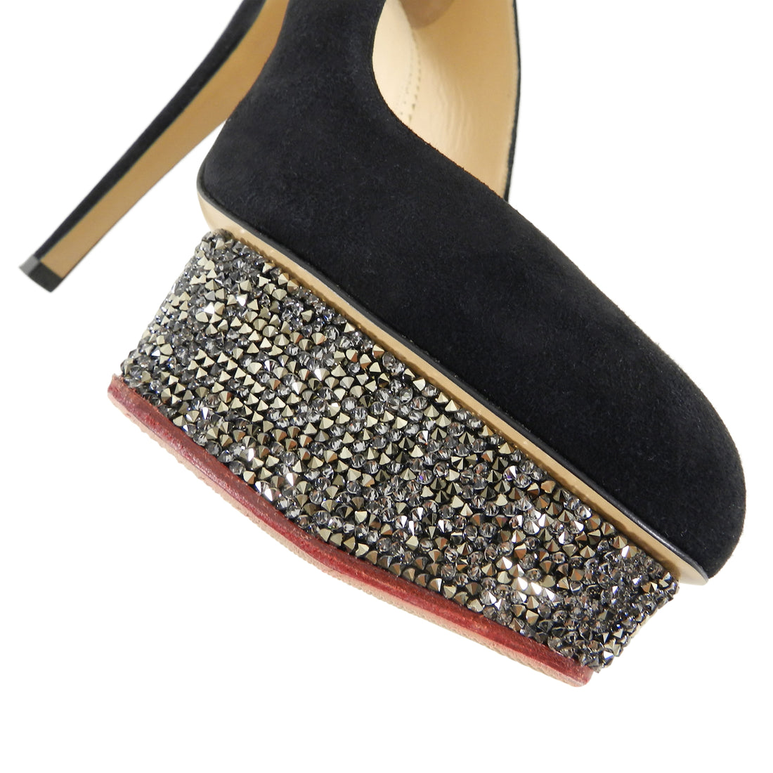 Charlotte Olympia Dolly Crystal Suede 150 mm Platform Pumps - 41