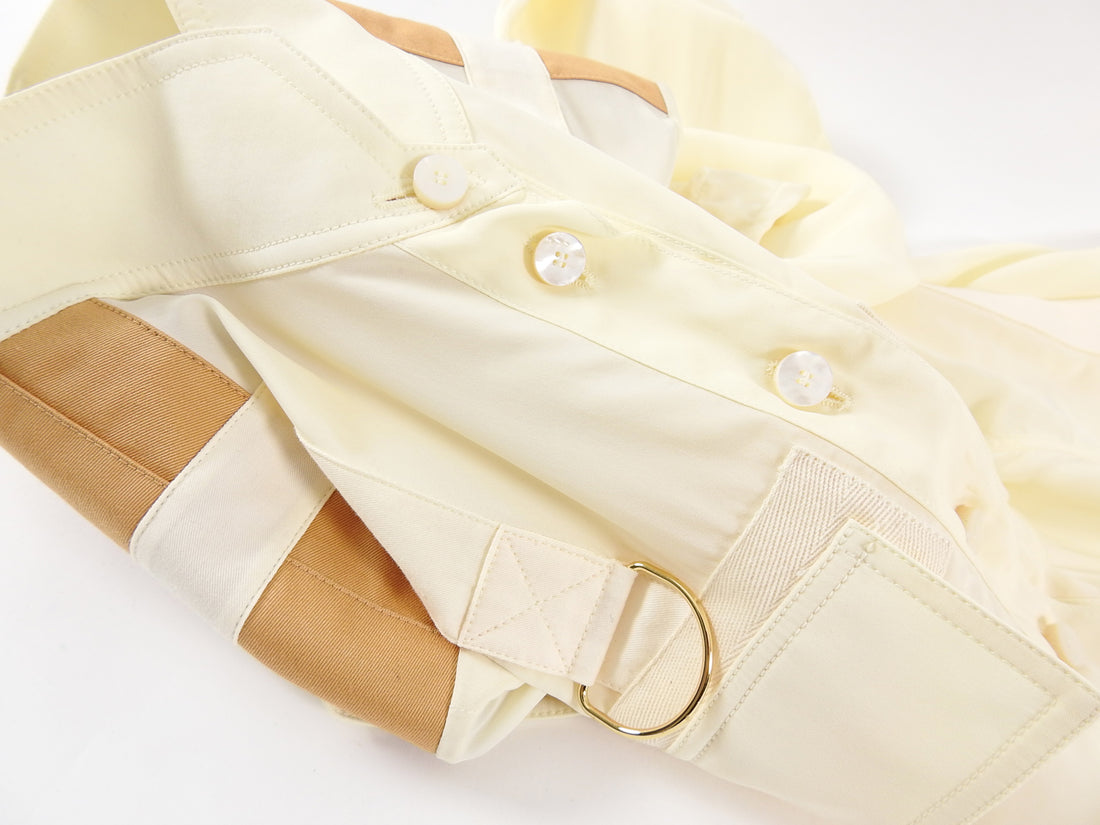 Chloe Cream Ruched Blouse with Strap Detail - 36 / 4