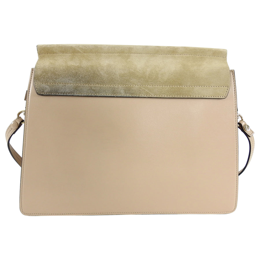 Chloe Faye Medium Beige Suede and Leather Chain Bag