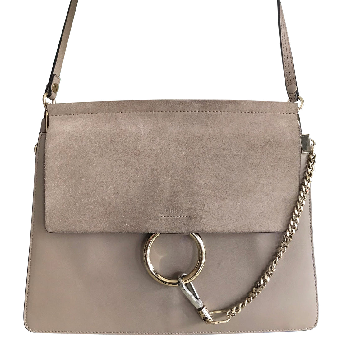 Chloe Medium Faye Suede and Leather Shoulder Bag