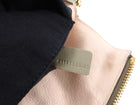 Chloe Kuroa Beige Leather Shoulder Bag with Gold Zip Detail